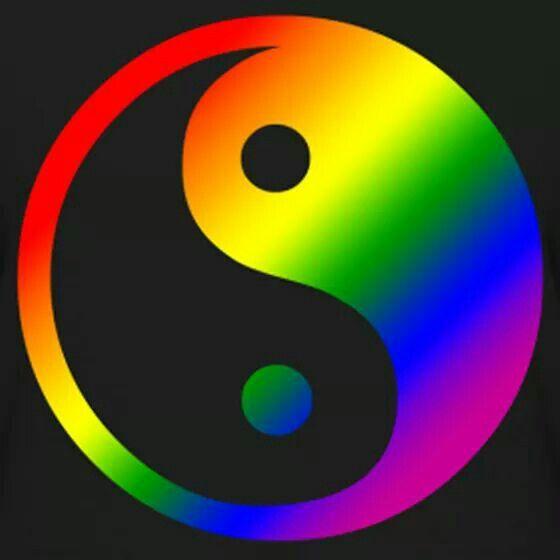 Pin By Meg Evans On Over The Rainbow Yin Yang Art Yin Yang Ying Yang