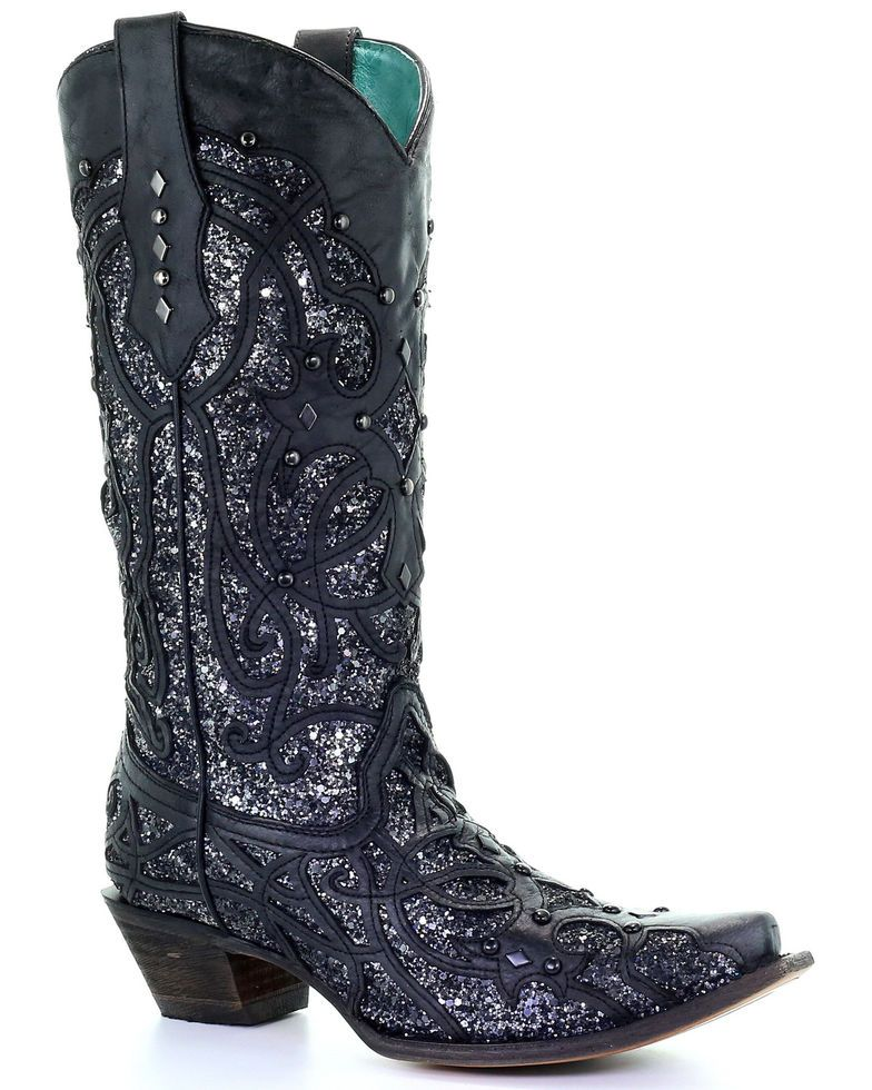 Corral boots womens, Black cowgirl boots
