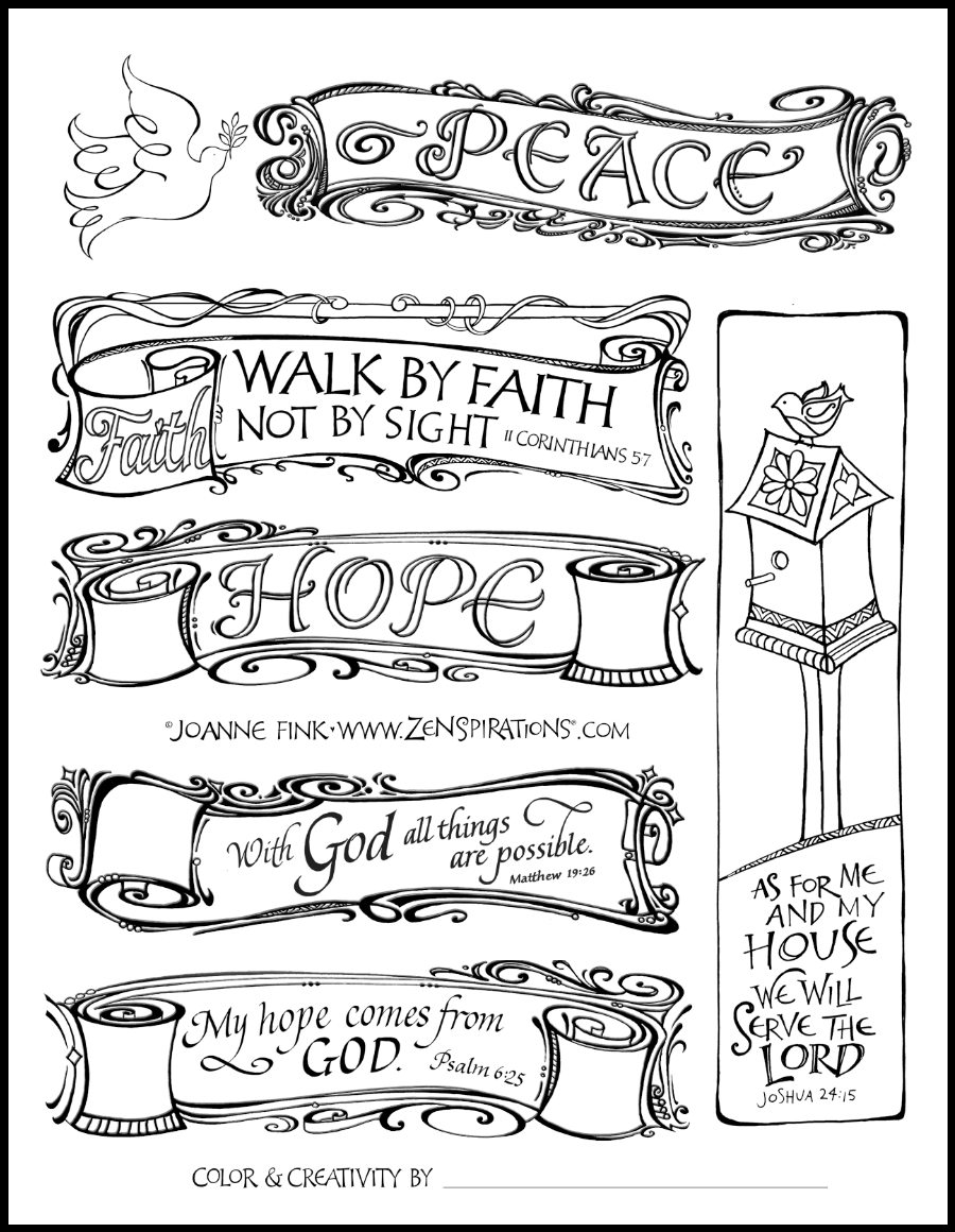 free bible journaling coloring pages Masterpiece in Progress | Zenspirations words of Faith | Pinterest  free bible journaling coloring pages