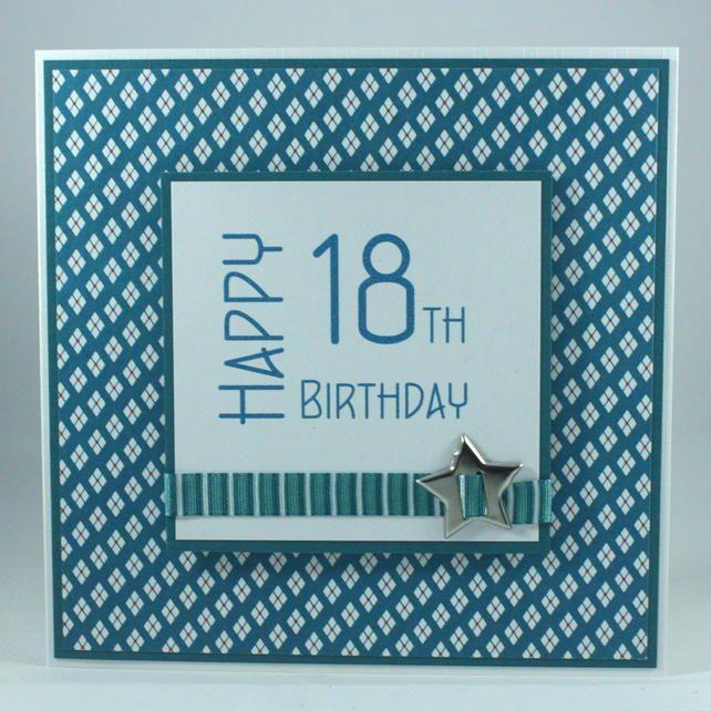 Handmade 18th Birthday Card