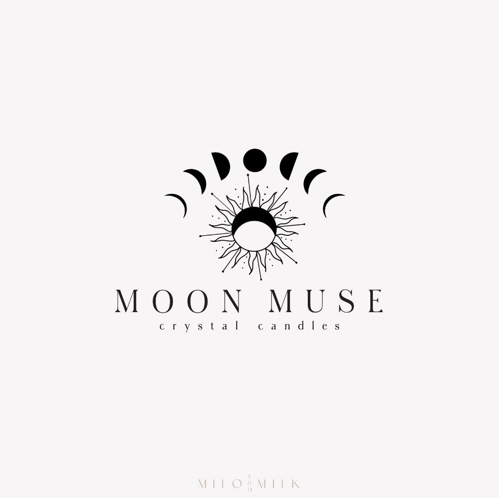 Moon Phase Star Logo Magic Logo Tarot Logo Candle Logo Nature Logo Business Branding Yoga Logo Candle Logo Modern Logo Witch Logo Candle Logo Yoga Logo Natural Logo