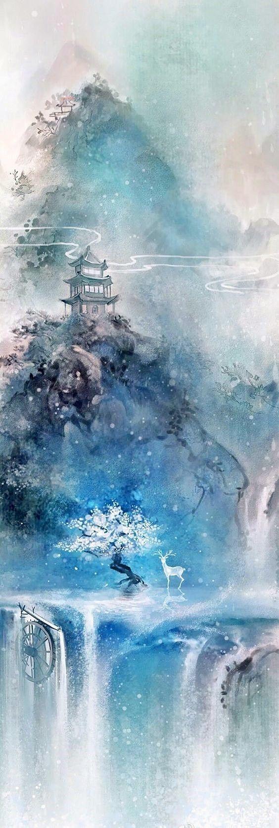 Pin By Liaison On Hoa Chi Truyện Fantasy Landscape Landscape Art Anime Scenery