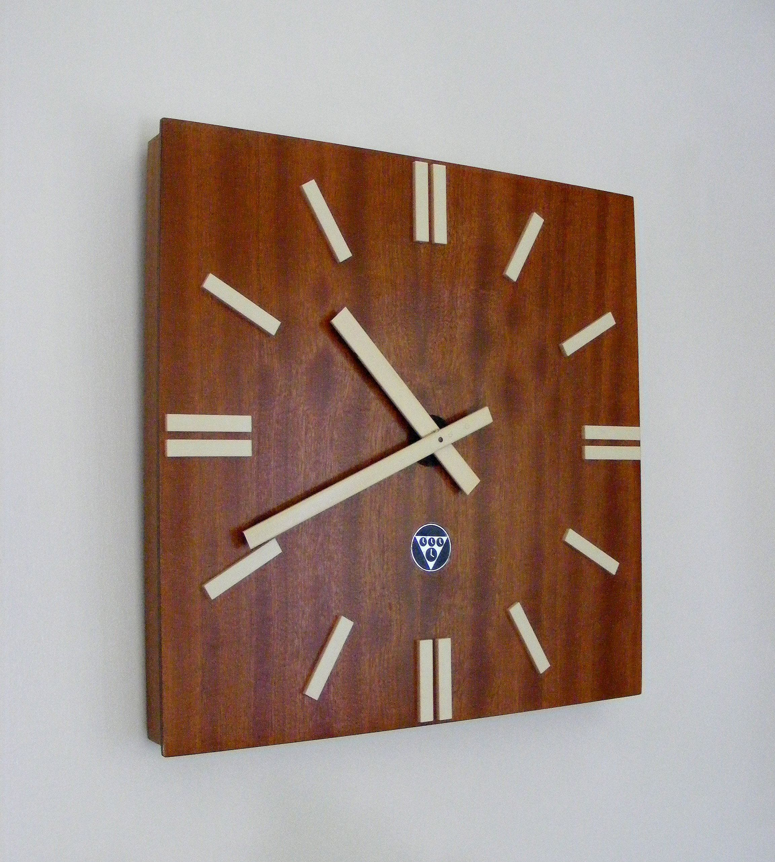 Modernist factory clock by Pragotron, Czechoslovakia, 1960s