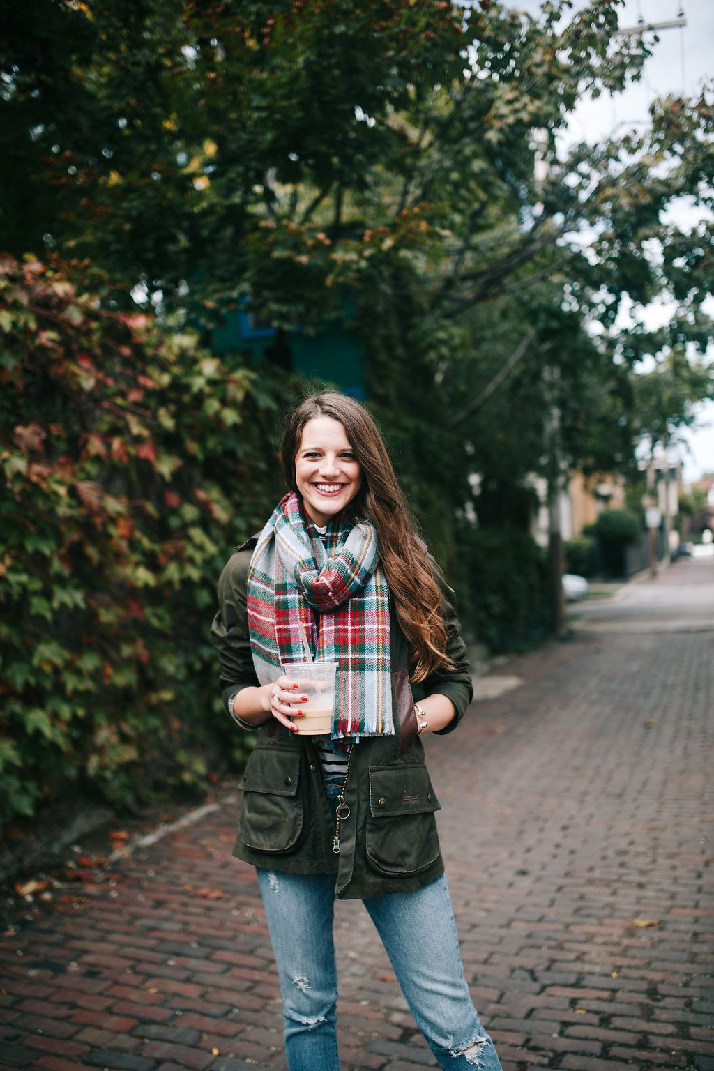 """The Quintessential """"Fall"""" Outfit - Plaid, Stripes, Deep Colors!"""