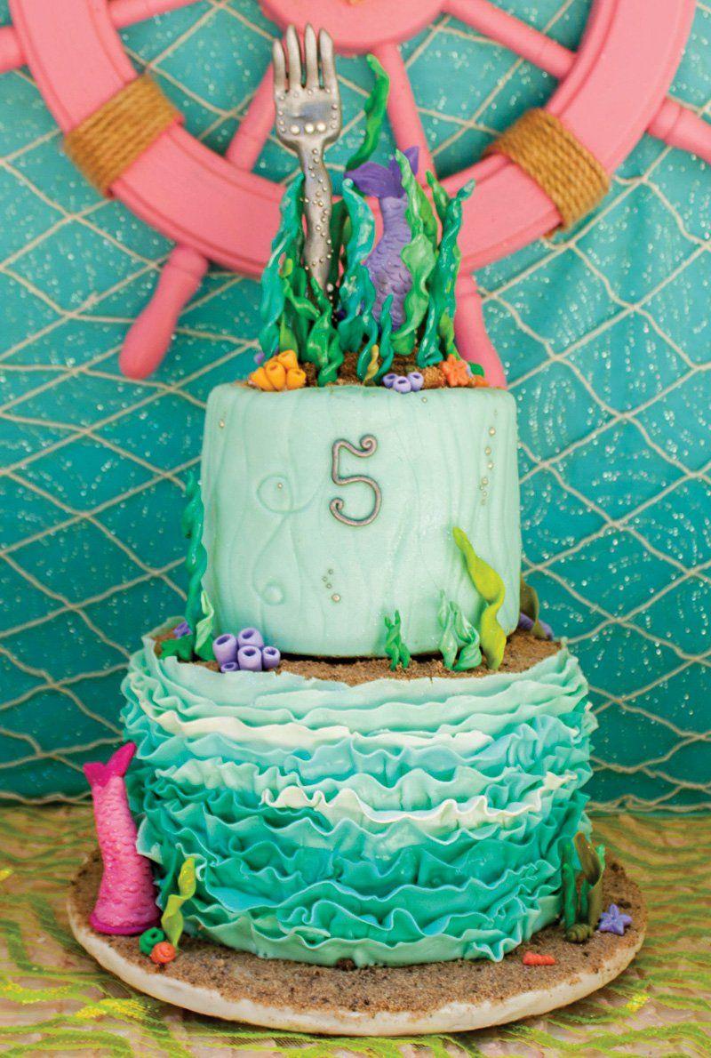 Crafty Creative Little Mermaid Birthday Pool Party Mermaid