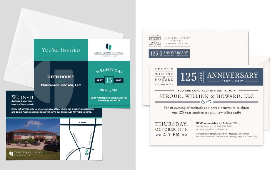 Event Design Open House Mailer Tingalls Graphic Design Event