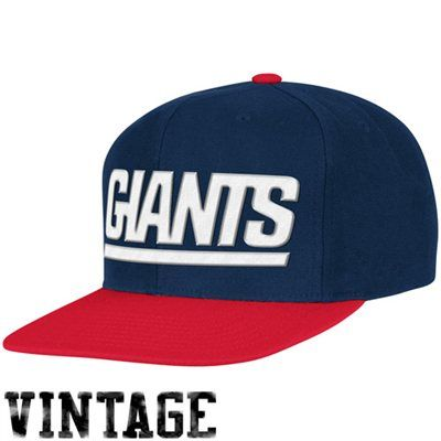 c7e35729a Mitchell & Ness New York Giants Throwback XL Logo 2T Snapback Hat - Navy  Blue/Red