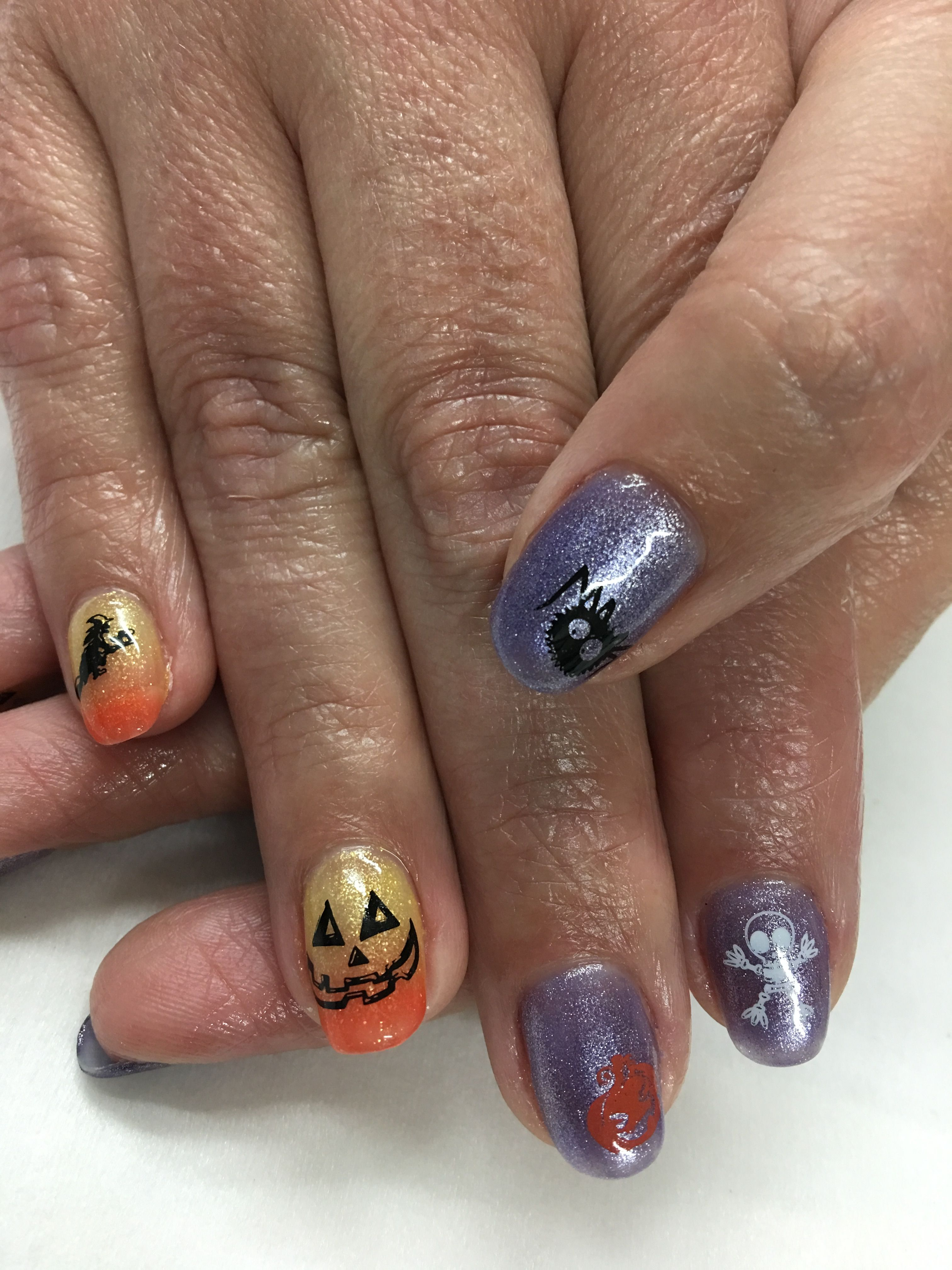 Yellow/Orange Color Changing and Purple Stamped Halloween ...