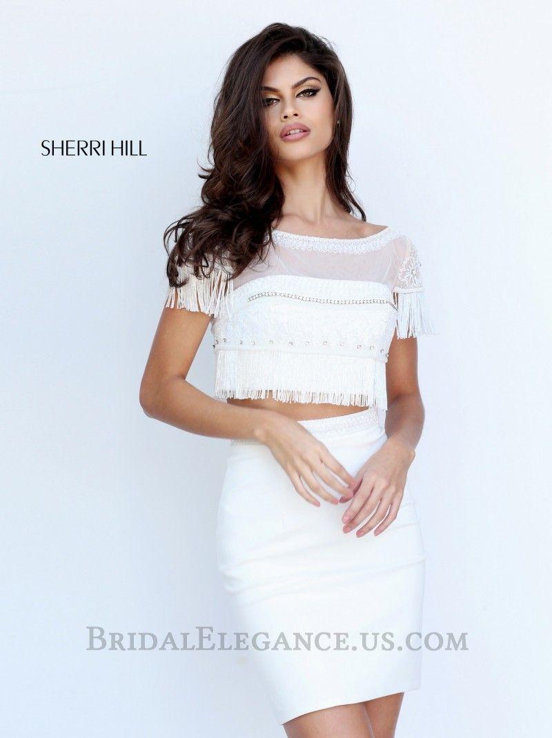 Sherri Hill 50687   Beaded Fringe Two Piece Homecoming Dress   Bridal  Elegance
