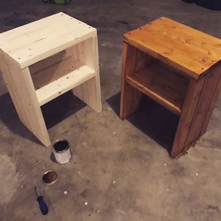 DIY Furniture Build a Nightstand out of 2x4s (With images