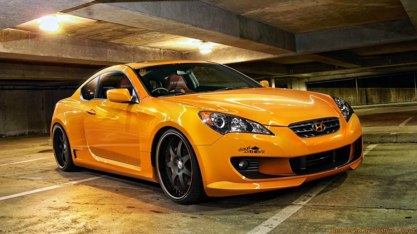 Cloud Edition Hyundai Genesis Car Orange Yellow Hd Car Wallpapers