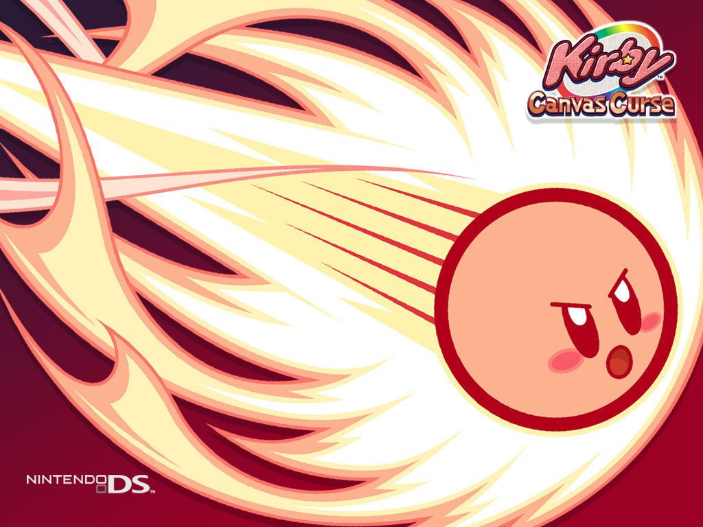 An epic picture of Kirby from canvas curse
