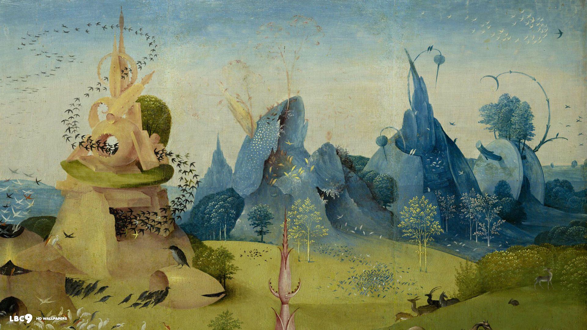 5e9efdf32fcee15dc3a6f6e63a748d95 Jpg 1920 1080 Hieronymus Bosch Painting Art