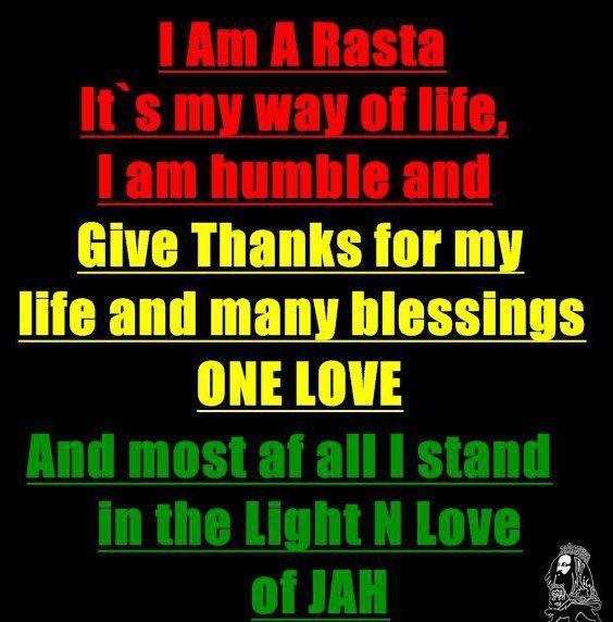 I AM A RASTA RasTafarI Pinterest Bob Marley Jah Rastafari And Unique Rastafari Love Quotes
