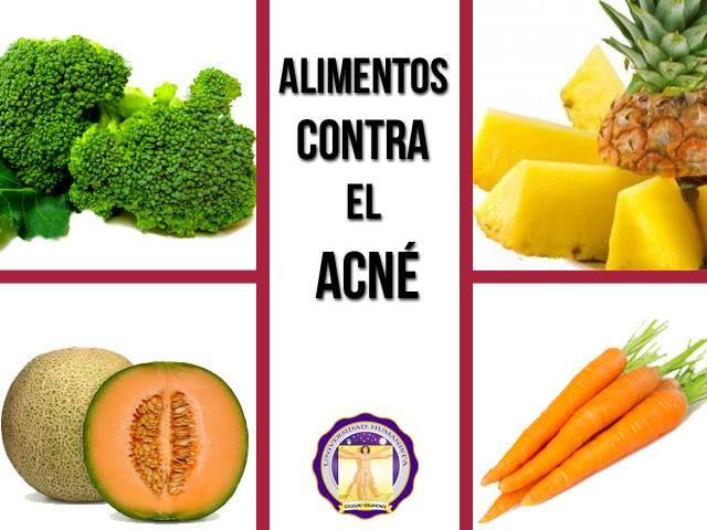 Alimentos contra el acnè