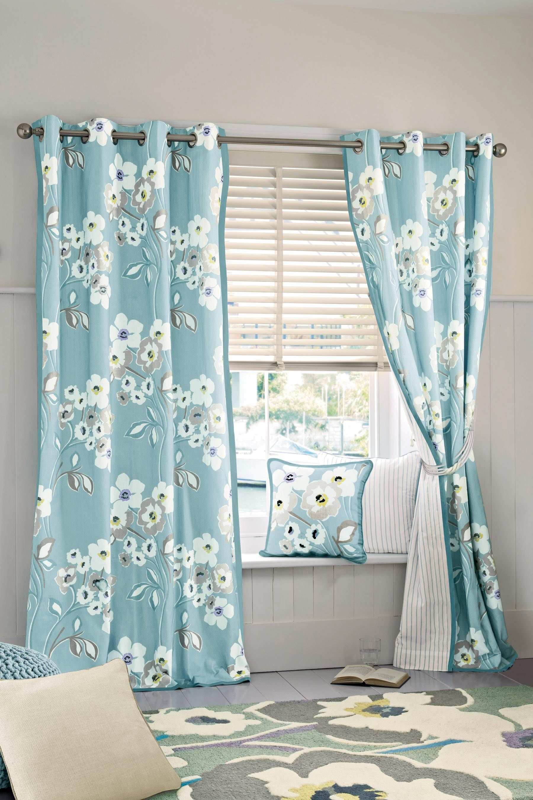 Next Bedroom Curtains Inspiration For A Pretty Floral Bedroom Soft Blue And White
