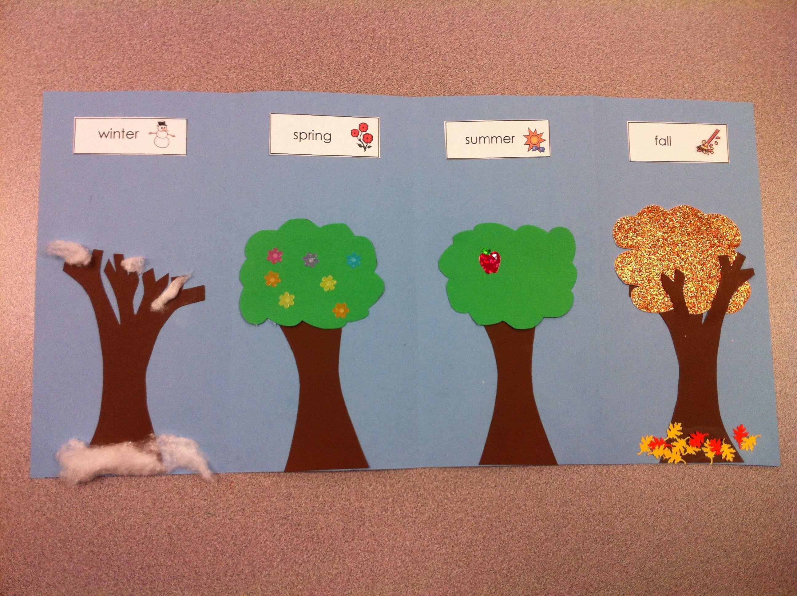 Preschooler 4 Seasons Clipart