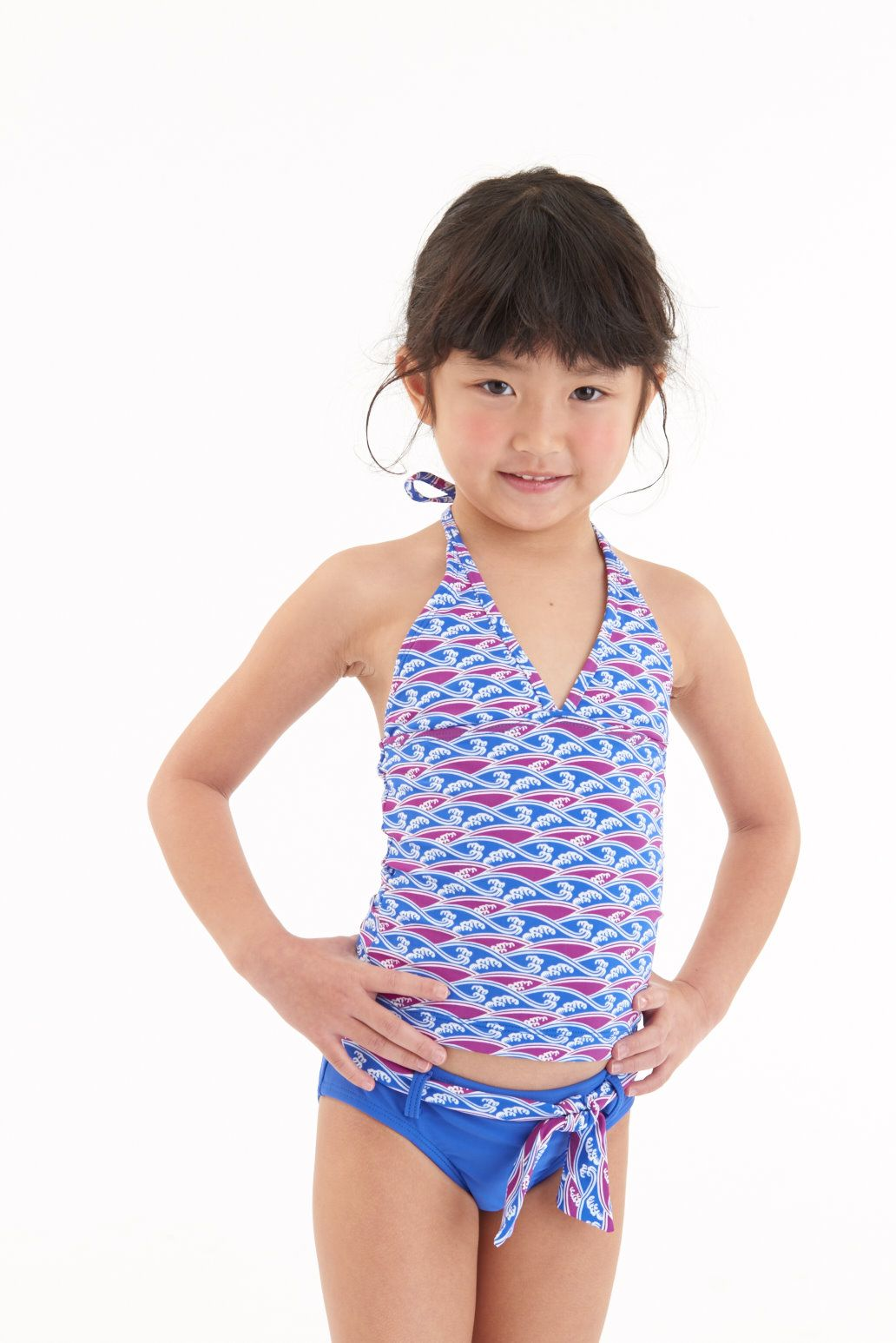 ba6f3693c54f9 Matching swimwear for boys girl and adults! Kids Tankini set in Waves  Purple print from