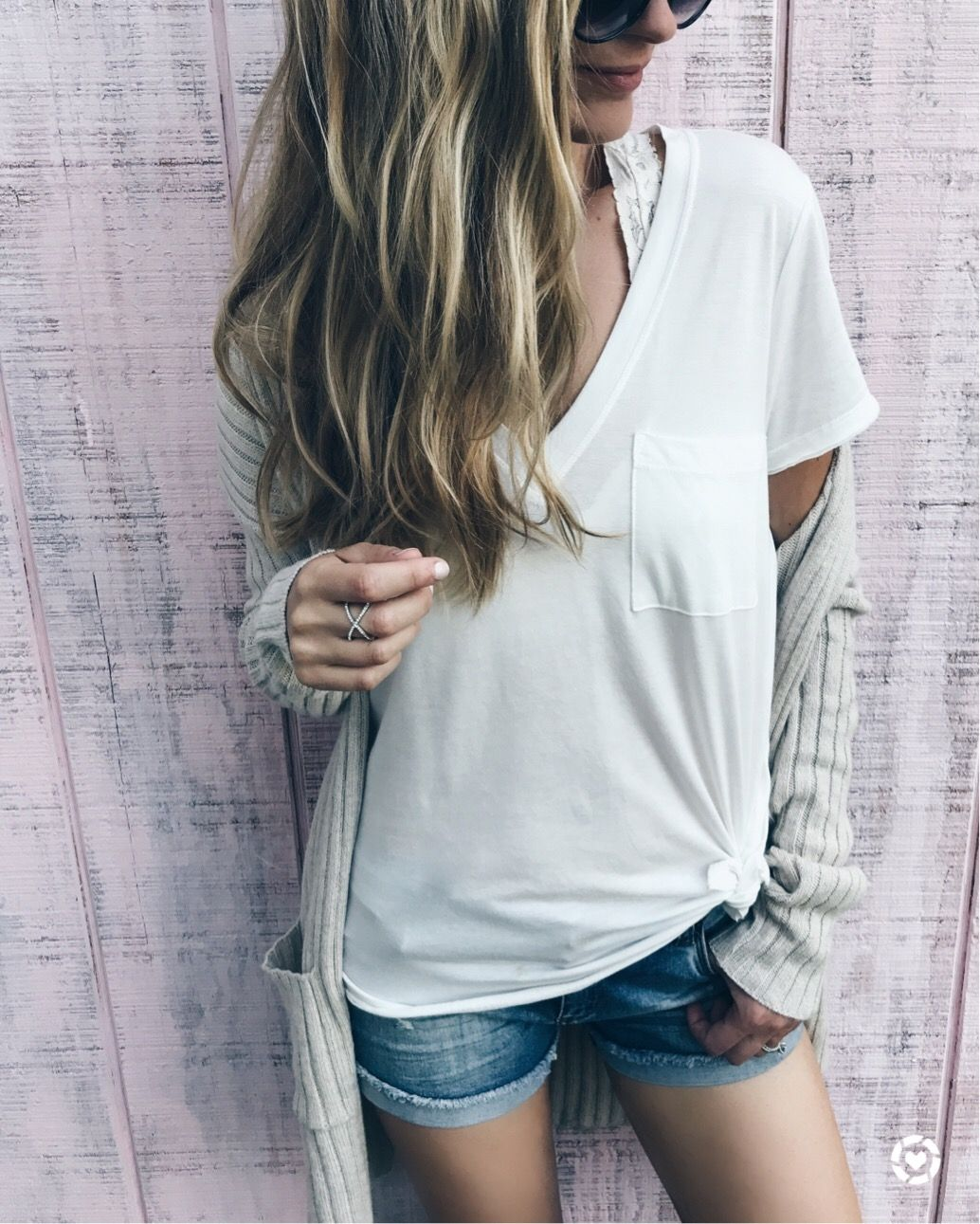 c01ee9e3838 nordstrom anniversary sale tops - lush v-neck tee with ribbed BP cardigan on  pinterestingplans