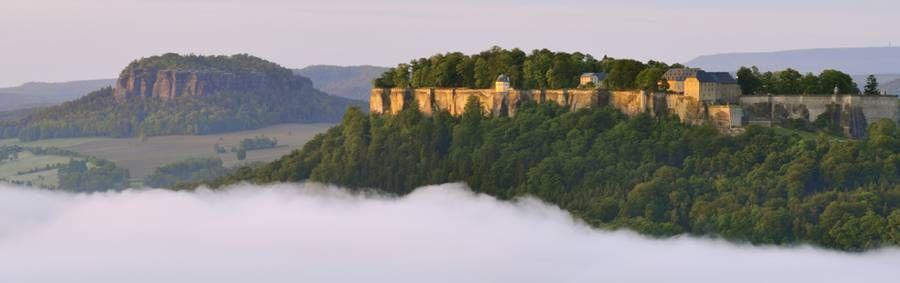 Festung Königstein am Malerweg Sächsische Schweiz Fortress Kingstone  Saxon Switzerland