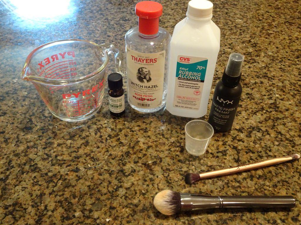 DIY 3Ingredient Makeup Brush Spot Cleaning Spray + Video