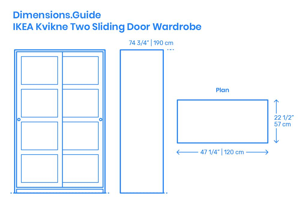 Ikea Kvikne Two Sliding Door Wardrobe Sliding Doors Sliding Wardrobe Doors Wardrobe Design Bedroom