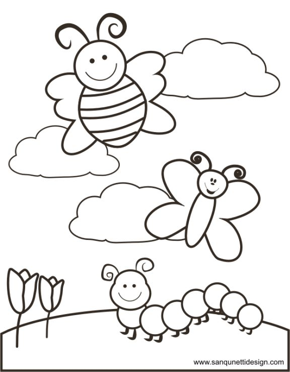 Free Spring Time Coloring Spring Coloring Pages Preschool Colors Coloring Pages