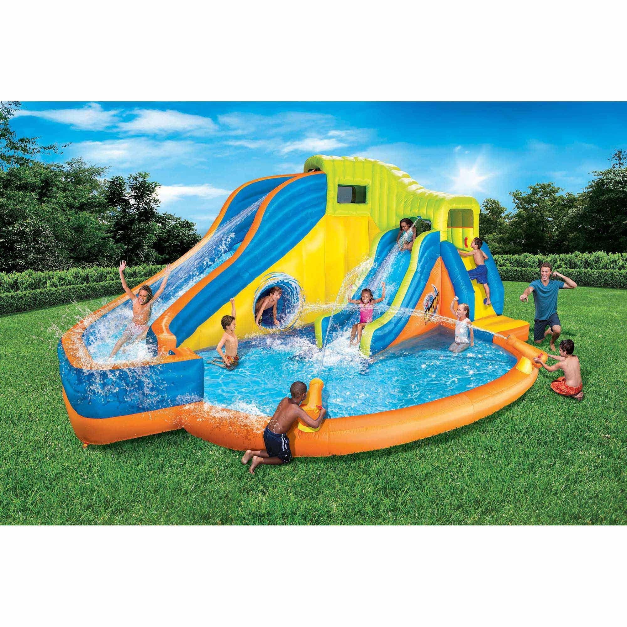 Banzai Pipeline Twist Kids Inflatable Outdoor Water Pool