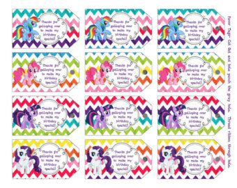 photograph regarding Free Printable Thank You Tags for Birthdays identified as My+Very little+Pony+Free of charge+Printable+Tags my minor pony birthday