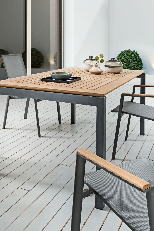 Sit Mobilia Gartentisch Etna Mit Teakholz Gartentisch Gartenmobel Terrassen Tische