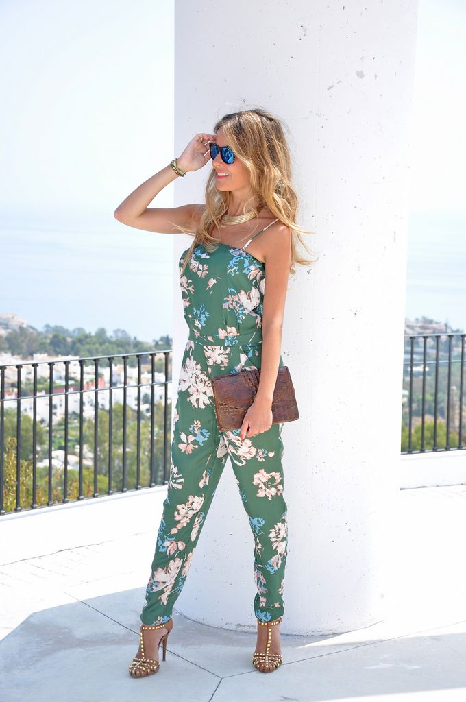 Look at the infinite. Floral jumpsuit!