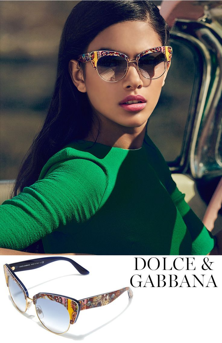 ee1a67a0db7 Dolce   Gabbana Sicilian Carretto 52MM Acetate   Metal Cat s-Eye Sunglasses