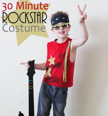 Easy  quick DIY rockstar costume - Halloween costume idea   Gyors - quick halloween costumes ideas