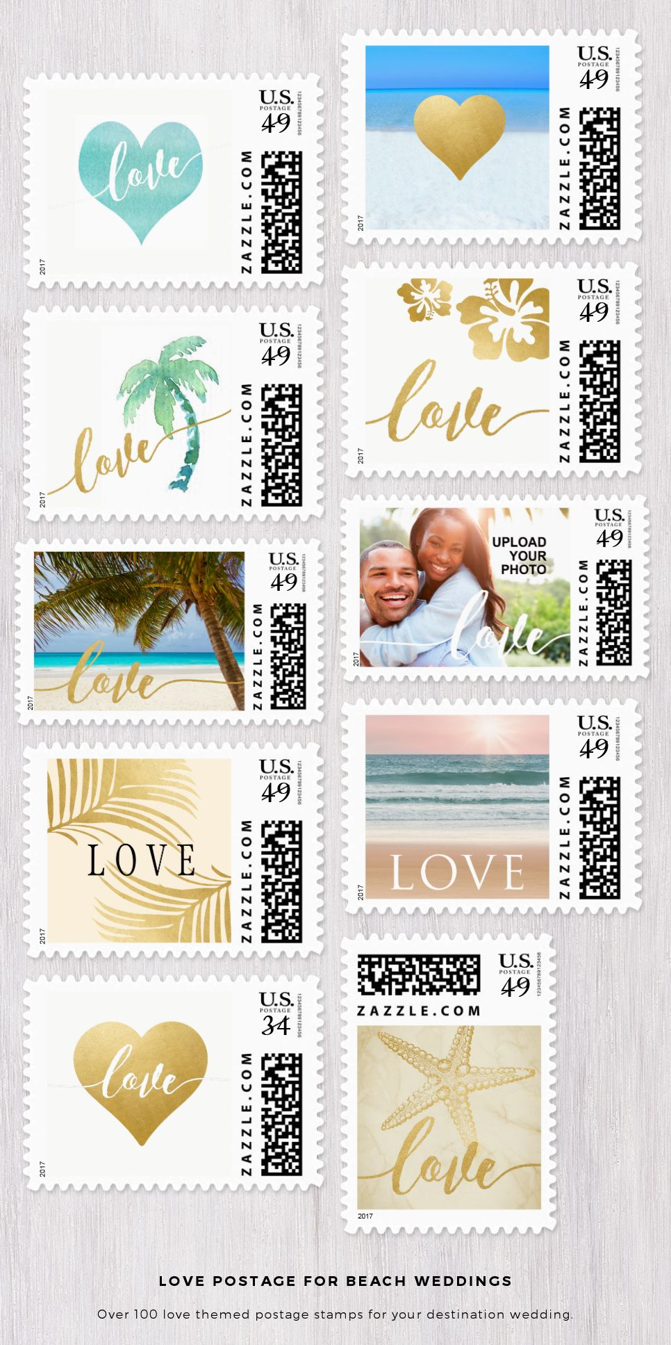 Over 100 love and heart themed postage stamps designed especially ...