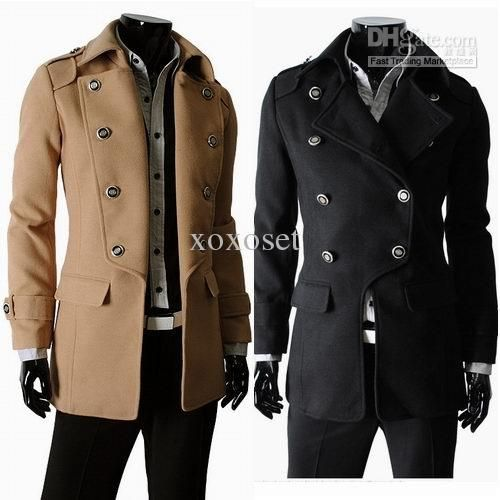 Popular Mens Trench Coats Classic Double-breasted Mens Trench Coat ...