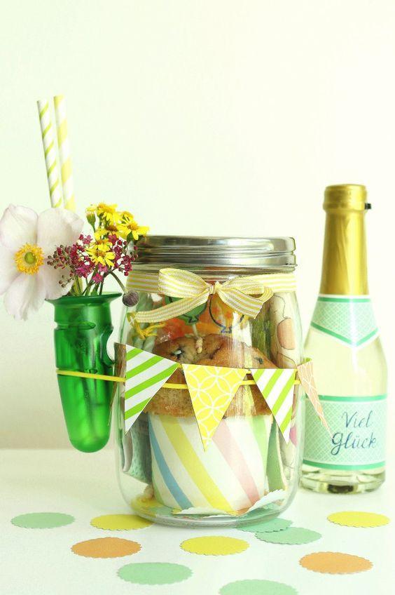 Geburtstag im glas gartendeko pinterest geburtstage - Glas gartendeko ...