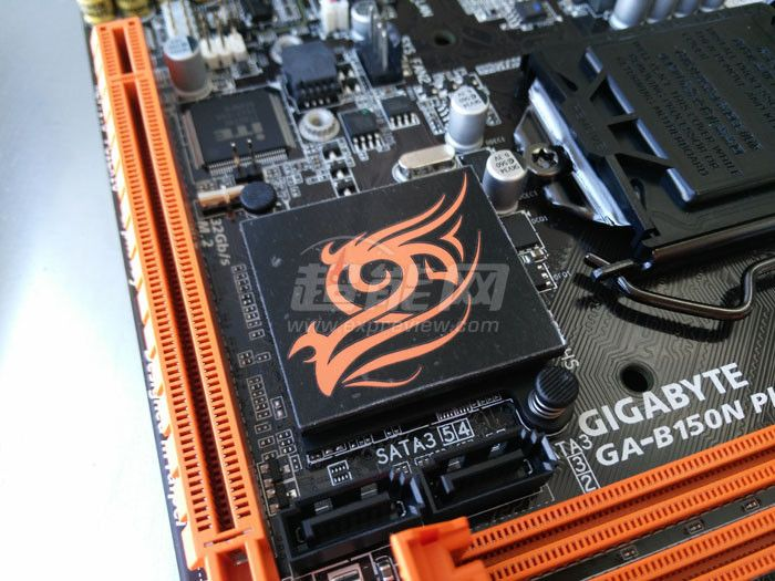 The first pictures of GIGABYTE's upcoming B150N Phoenix mini-ITX motherboard for socket LGA1151 skylake CPUs.