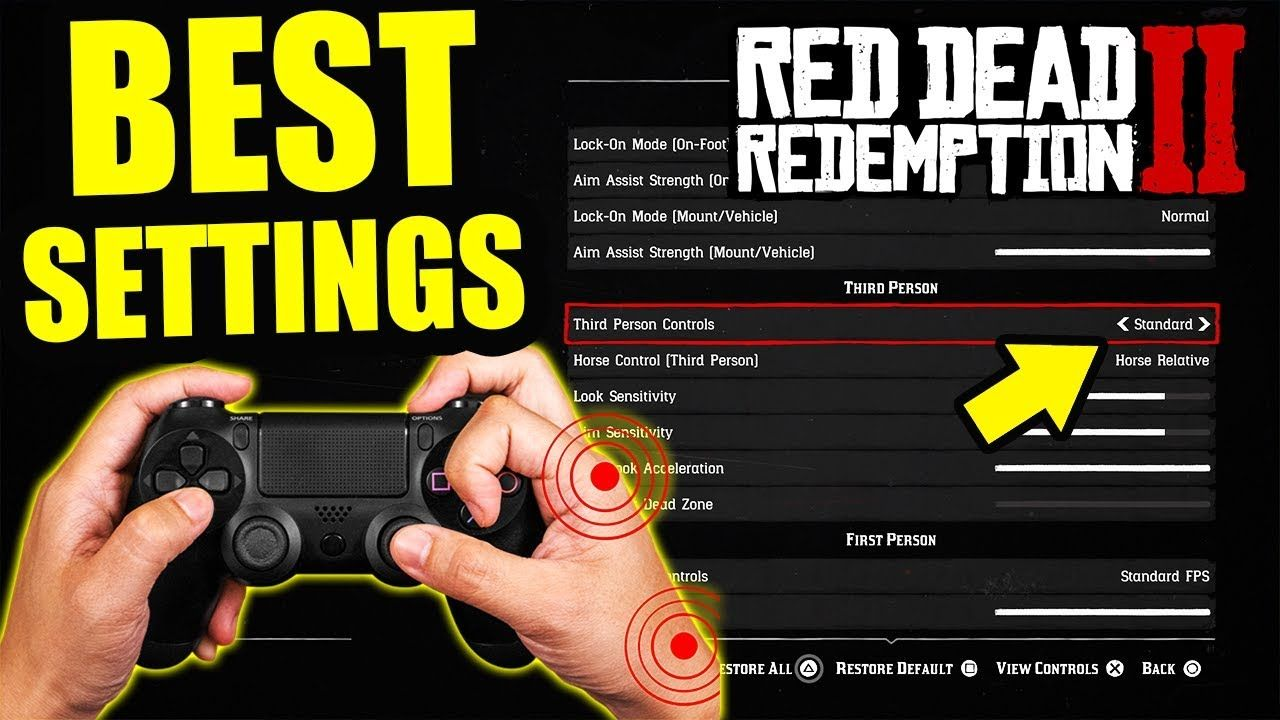 The 5 Best Red Dead Redemption 2 Controller Settings Rdr2 Settings For More Responsive Controls Youtu Red Dead Redemption Redemption Red Dead Redemption Ii