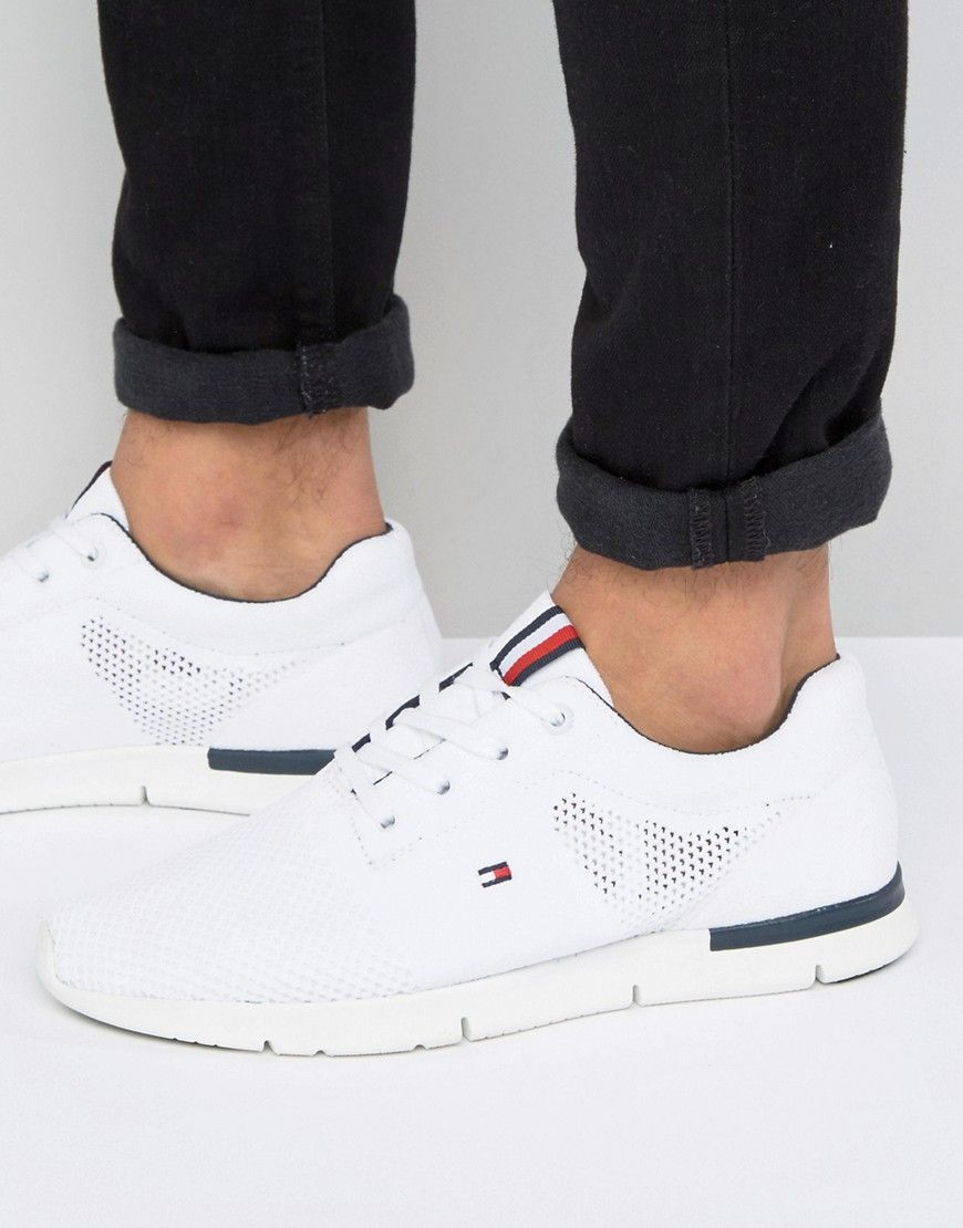 fce3498a TOMMY HILFIGER TOBIAS RUNNER SNEAKERS - WHITE. #tommyhilfiger #shoes ...