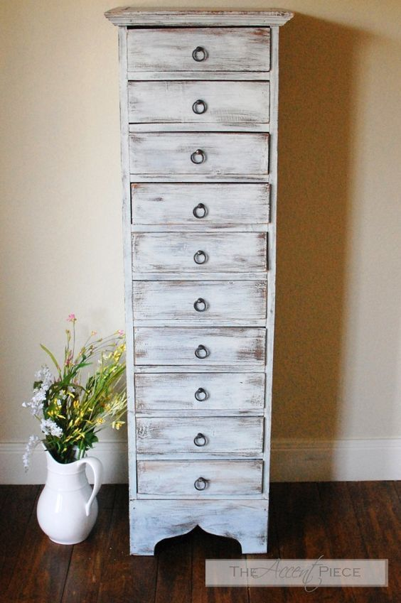 Drybrushed Chest of Drawers | Small chest of drawers, Diy ...