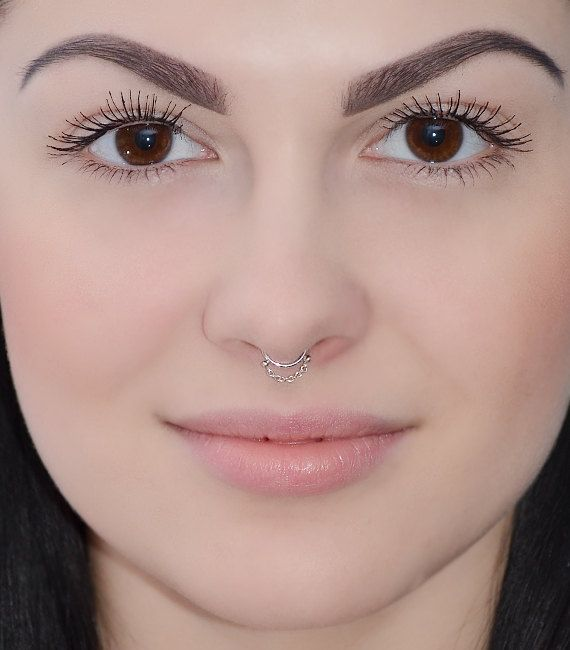 Septum Ring Silver Septum Piercing Small Nose Ring Cartilage