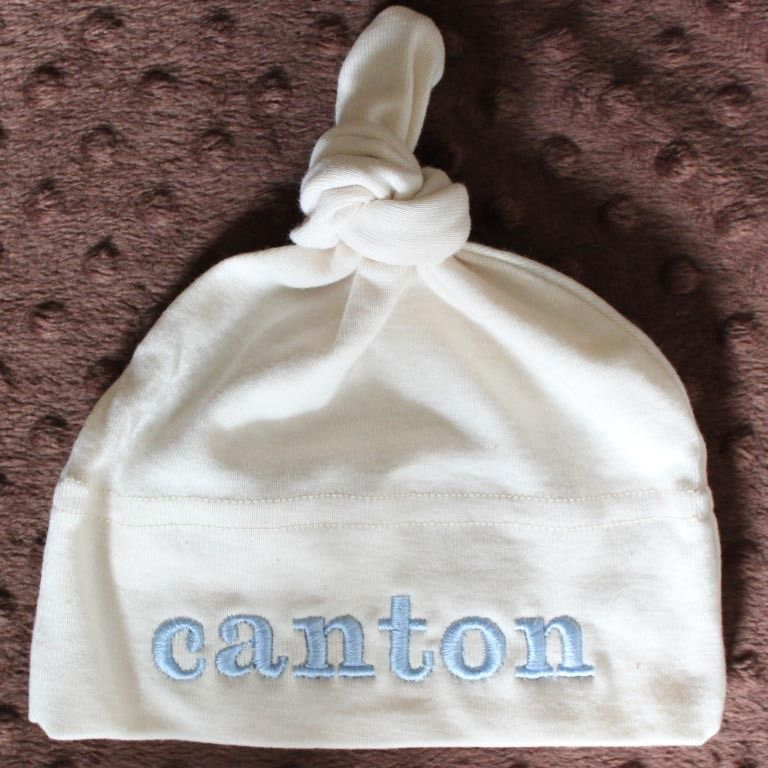 Organic cotton baby hat monogrammed personalized newborn hat the organic cotton baby hat monogrammed personalized newborn hat the best baby gift infant 2 year negle Image collections