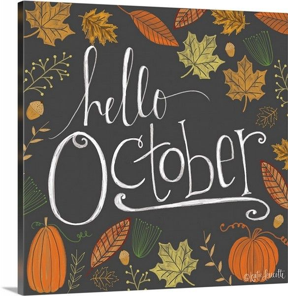 """Hello October"" wall art by Katie Doucette. Canvas or poster print available at CanvasOnDemand.com"