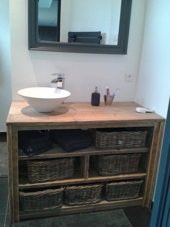 meuble salle de bain pays bois avec tablette suppl mentaire meubles salle de bain bathroom. Black Bedroom Furniture Sets. Home Design Ideas