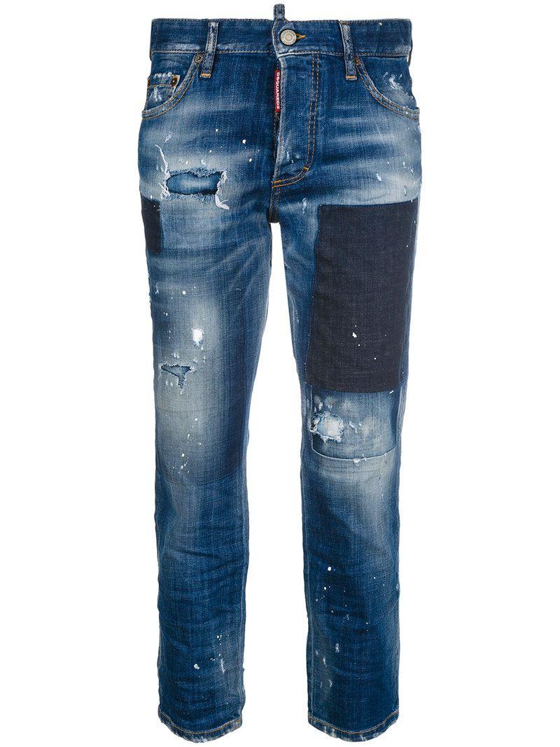 Dsquared2 Jeans Dsquared2 Jeans Boyfriend Recortados Jeans Boyfriend Recortados Boyfriend Dsquared2 w5SqxxI