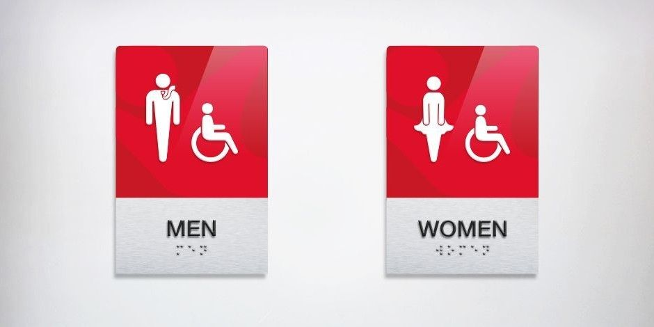 iFLY indoor skying bathroom signs | Tilted Chair Creative & iFLY indoor skying bathroom signs | Tilted Chair Creative | Our ...