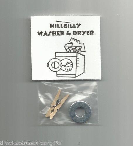 New hillbilly washer and dryer novelty gag gift red neck