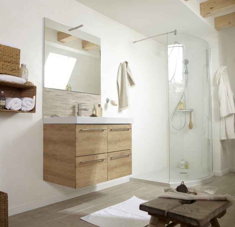 salle de bains blanc beige naturel bois sensea naturel authentique bathrooms en 2019