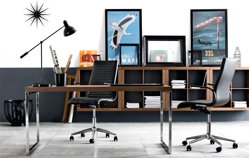 don t be afraid of combining your home office with your living space if you re short on space
