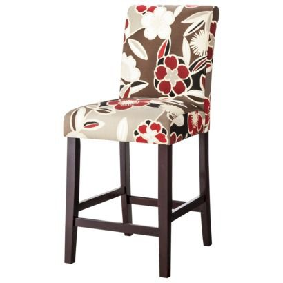 Avington Counter Stool Red Floral House Inspirations